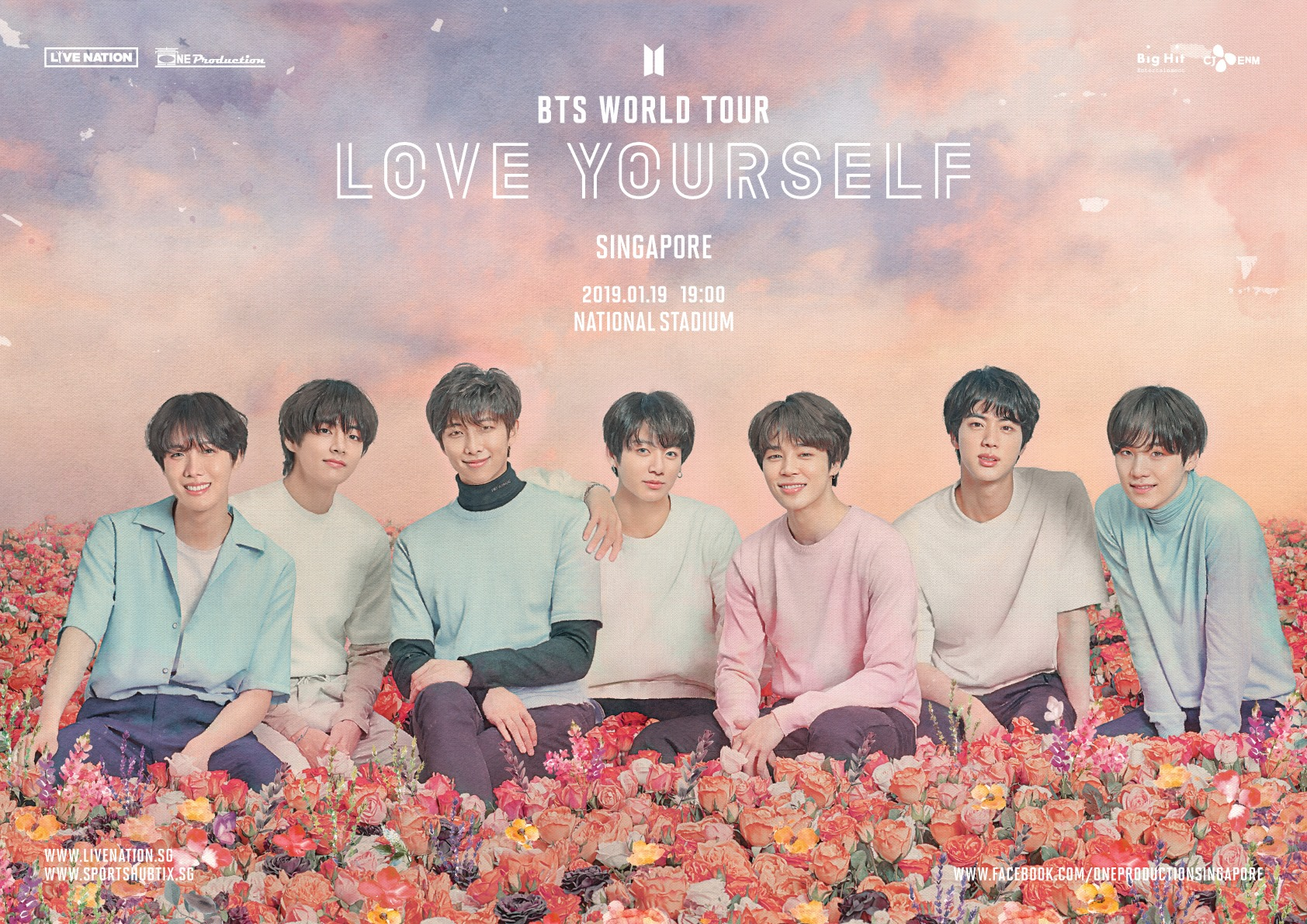 Bts To Stage Their Love Yourself World Tour At Singapore National